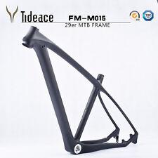 """29er marco de carbono mtb 17.5"""" 3K a Matt Cuadro para Bicicleta de montaña 135/142mm BSA Marco"""