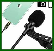 Lavalier Microphone For Iphone Android Cell Phone Camera Lapel Mic Noise Cancell