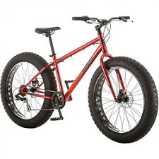 "26"" Mongoose Hitch Men's All Terrain Fat Tire Bike Red Seven Speed Twist Style"