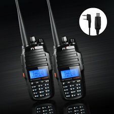 2pcs TYT TH-UV8000D 10W Transceiver Handheld Two Way Radio +USB Program Cable