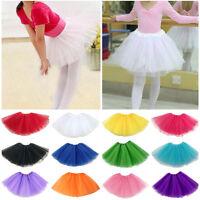 Pretty Kid Girls Princess Ballet Tutu Dress Up Dance Wear Costume Party Skirt US