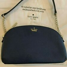 Kate Spade New York Navy blue Cameron Street Hilli Crossbody- Leather, gold trim