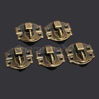 12x Antique Brass Decorative Hasp Latch Lock for Jewelry Wood Box Case w Screw