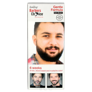 Godefroy Barbers Choice Beard and Mustache Color Dark Brown 3 Capsule Kit