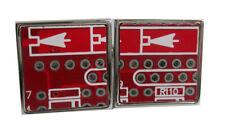 E-Platinen Manschettenknöpfe quadratisch rot Unikat wie Abb. MM0401-8 +Silberbox