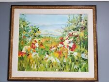 "Large Childe Hassam Framed Oil Painting Repro on Canvas  29.5"" x 25.5"""