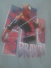 Spiderman Bravery Marvel Gray T-Shirt