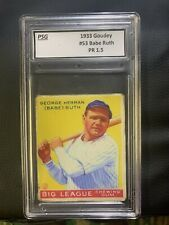 1933 Goudey Babe Ruth #53. Graded See Description