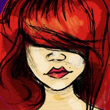 Character Fun Art WaterColor Digital Print Artwork Illustration Download 4x4 Red