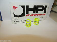 HPI STEEL ROLL SPRING YELLOW 1.0MM 2PCS A083