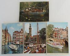 4 x AMSTERDAM Holland Niederlande Postkarten mit Schiff Schiffen, Ship Postcards