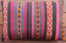 (40*60cm, 16*24inch) Boho handwoven kilim cushion cover Morocan purple pink