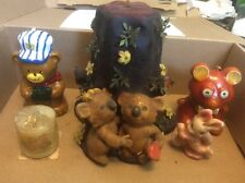 Lot of Vintage Cute Animal Shaped Candles Koala Bears Rabbit Mice