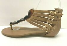 Jessica Simpson Size 5.5 Brown Leather Sandals New Womens Shoes