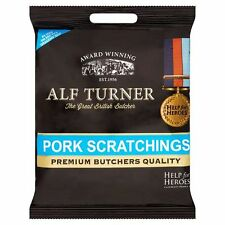 Alf Turner Premium Butchers Quality Pork Scratchings Tasty Snack 70g x 6 packs