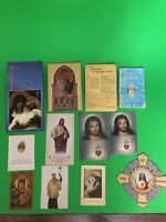 Lot of 7 PRAYER, RELIGIOUS, HOLY, FUNERAL Cards Plus 1 Blessed Medal 3 Booklets