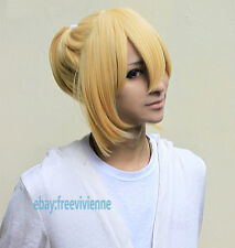 Vocaloid Kagamine Len Rin Cosplay Wig Full Hair+ free wig cap