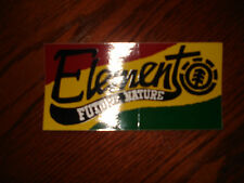 ELEMENT FUTURE NATURE ICON LOGO RASTA COLORS SKATEBOARD STICKER