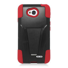 LG Optimus Exceed 2 VS450 Advanced Layer HYBRID KICKSTAND Rubber Cover