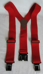 New Dickies PERRY Red Adjustable Stretch Suspenders - Made in USA