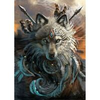 Wolf DIY 5D Full Drill Diamond Painting Embroidery Cross Stitch Kits Home Decor