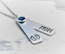 Personalised Baby Loss Necklace, Birthstone Pendant Necklace - Miscarriage