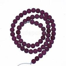 Purple Jade Gemstone Round Spacer Loose Beads for Bracelet Necklace DIY