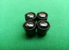 JEEP Black Wheel Tyre Valve Dust Caps for Grand Cherokee Renegade 4x4
