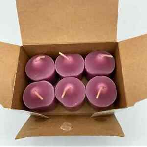 PartyLite Raspberry & Thyme Six Votive Candles NEW Home Decor Accents