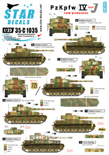 Star Decals 35-C1035, Decals for PzKpfw IV Ausf J. LATE PRODUCTION, 1:35