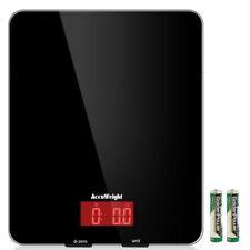 Accuweight AW-KS001BB Digital Kitchen Tempered Glass Platform Electronic Food...