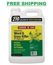 Concentrate Grass Weed Killer 2.5 Gal. Rainproof Glyphosate Kills Weeds Roots