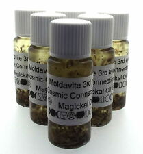 Moldivite Gemstone Magickal Anointing 10ml Oil 3rd Eye Cosmic Connections