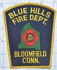 CONNECTICUT, BLOOMFIELD BLUE HILLS FIRE DEPT PATCH