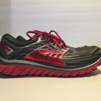 Brooks Glycerin 14 Womens Running Shoes Size 11 Gray/Strawberry Red Ships Fast