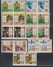 Guinea 1972 Summer Olympics  Sc 618-624, C124-25  IMPERF PAIRS MNH
