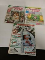Scrapbooking And Beyond Magazine Lot of 3 From 2012 Spring, Summer, Holiday EUC