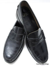 L L Bean Mens Size 11 C Penny Loafer Shoes Black Leather Freeport Maine USA