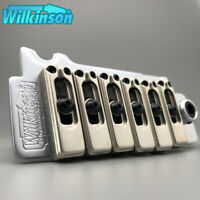Wilkinson WVS50II tremolo Vibrato 2 Point Guitar Bridge Matt Chrome Steel Block