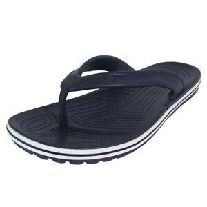 Crocs Crocband Lopro Flip Sandal Shoes, Navy, Mens 4 US M / Womens 6 US M