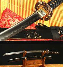 "41"" DAMASCUS FOLDED STEEL CLAY TEMPERED COPPER  JAPANESE SAMURAI SWORD KATANA"
