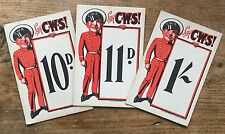 CWS Co-operative Price Cards c1920 x 3