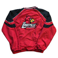 VTG 90s Louisville Cardinals Windbreaker Mens Medium College Red Logo Streetwear