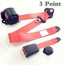 1 Set Car Truck 3 Point Automatic Retractable Safety Seat Belt Lap Seatbelt Red