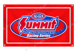 Summit Racing Equipment Banner Flag 3X5 Ft NHRA Drag Racing Flag 4 Grommets