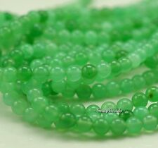 6MM GARDEN GREEN JADE GEMSTONE GREEN ROUND 6MM LOOSE BEADS 16""