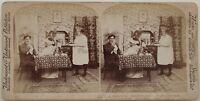 Mr È Hrabal Scena Da Genere Foto Stereo Vintage Albumina 1897