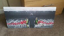 Manchester United The Sir Alex Ferguson years 28x13 Inch canvas