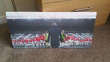 Manchester United The Sir Alex Ferguson years 40x20 Inch canvas