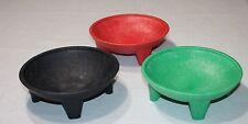 Mexican Molcajete Salsa, Guacamole, Tortilla Chips Serving Dish Plate Bowl 3 SET